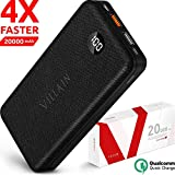 [Newest 2020] Villain Power Bank Portable Charger 20000mah 18W PD - 3A Port & Qualcomm QC 3.0 Tri-Input & Tri-Output External Battery Pack with LED Display - Cell Phone Powerbank for iPhone, Android