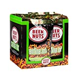 BEER NUTS Cantina Mix - 12-Count 3.25oz Single Serve Bags, Original Peanuts, Chili Lemon Roasted Corn, Black Bean Sticks, Guacamole Bites