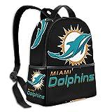 zhengdong Sac à Dos Cartable Grande capacité pour Filles garçons (Miami Football Fans D-olphins)