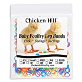 Baby Poultry Leg Bands Size 3 Small 3/16' - Day Old Bantam Chick, Call Duckling, Gamebirds (100 Per Pack)