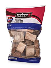 Hickory wood chunks Rich subtly Sweet flavor Great for poultry, pork & beef 350 cu. in. (0.006 m^3) sized bag