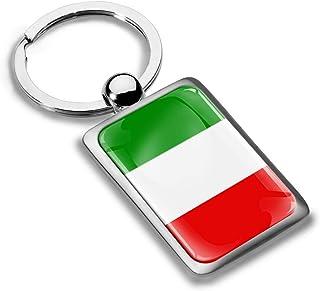 Skino 3D Metal Italy Italian National Flag Keyring Key Chain Gift Men Women Keychain Giftbox KK 221