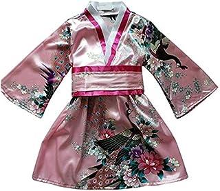 FANCYKIDS Japanese Girls Toddler Baby Kimono Robe Dress Outfit Costume