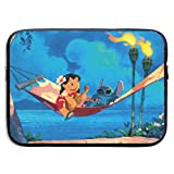 Anime Lilo Stitch Laptop Sleeve Bag 15 Inch Tablet Briefcase Ultra Portable Protective, Laptop Canvas Cover MacBook Air, MacBook Pro, Notebook Computer Sleeve Case