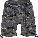 Brandit Savage Vintage Shorts Pantaloncini, Darkcamo, XXL Uomo