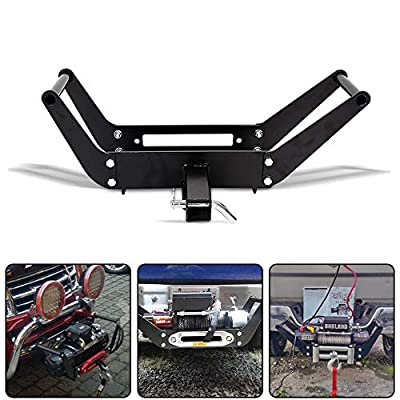 """RUGCEL Winch Mounting Plate Compatible 1987-2006 Wrangler TJ LJ YJ (10"""" x 4 1/2"""")"""
