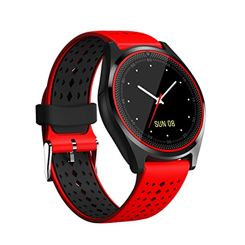 Smartwatch Bluetooth touchscreen, activity tracker, horloge, intelligente stappenteller, camera, afstandsbediening, vivovace horloge, oproepen/sms/WhatsApp-armband voor Android iOS V9