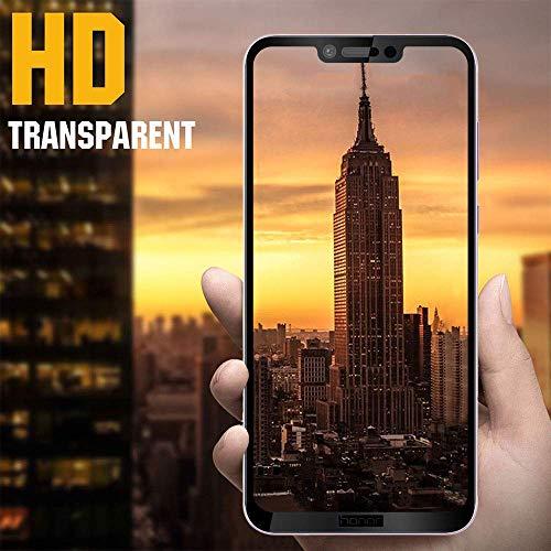 EasyULT Panzerglas Für Huawei Honor Play[2 Stück], Volle Deckung Displayschutzfolie Displayschutz Folie Full Glas Panzerglasfolie Schutzfolie Für Huawei Honor Play(Schwarz) - 6