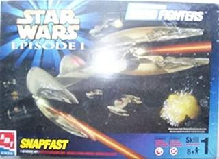 Star Wars Episode I - TRADE FEDERATION DROID FIGHTERS - SNAPFAST 1:48 Model Kit / Modellbausatz - AMT / ERTL 1999 - OVP by AMT Ertl