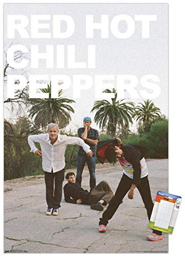 Trends International Red Hot Chili Peppers-Band Mount Wall Poster, 22.375' x 34', Premium Poster & Mount Bundle