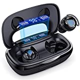 Wireless Earbuds, 180H Playtime Bluetooth 5.0 IPX7 Waterproof Touch-controlled Running Headphones, In-Ear Headphones with Built-in Mic for Running/Workout/Gym