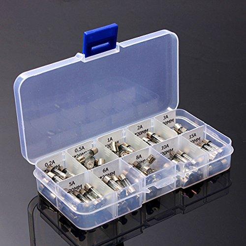ROSENICE Lot de 100 fusibles en verre 5 x 20 mm