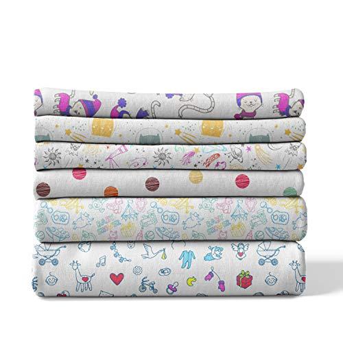 bordi rinforzati 4 pezzi lavabili a 60/° C stampato zebra tessuto doppio /Öko-Tex Standard 100 Qualit/à superiore 70 x 70 cm Mussola in cotone neonato