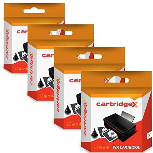 Cartridgex 4 x Negro Alta Capacidad Remanufacturado Cartucho de Tinta Reemplazo para HP 300XL 300 XL DESKJET F4230 F4225 F4240