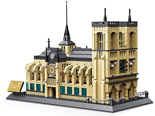 Wange Kathedrale von Notre Dame Architektur-Modell, zur Montage mit Bausteinen