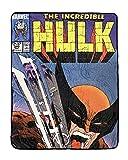 Marvel The Incredible Hulk Vs Wolverine Officially Licensed Printed Fleece Throw Blanket
