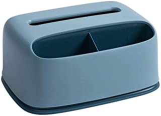 ASDAF Tissue Box conteneur de Tissu de Bureau à Plusieurs Compartiments boîte de Rangement télécommande Titulaire Organise...