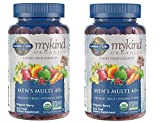 MyKind Organics Men's Multi 40+ Whole Food, Organic Vitamin Chews in Delicious Organic Berry (120 Vegan Gummy Drops) Pack of 2