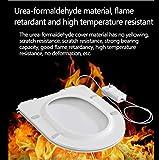 ARAYACY WeißEr Toilettendeckel, Elektrisch Beheizter Toilettendeckel Intelligenter Automatischer Thermostatischer Toilettendeckel Einstellbare Temperatur-Sofortheizring,LargeVtype - 2