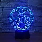 3d Nachtlicht, Fußballkugel 7 Färbt Lampen Für Kind-noten-tisch Lampara Lampe Baby-schlafen-tropfen-schiff