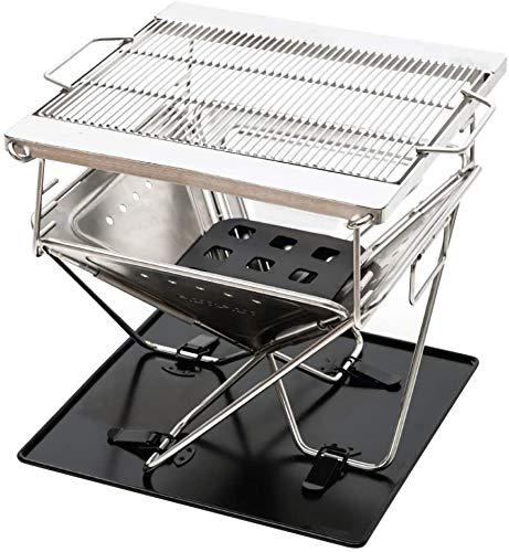 LIBOYUJU Verdickte 304 Edelstahl Grill, rauchloser Grill klappbaren, tragbaren Grill, geeignet für Outdoor-Camping