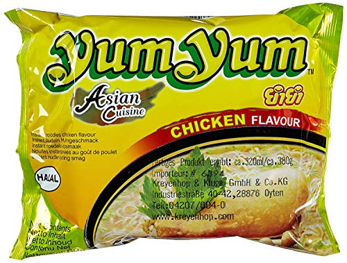 yum yum Instant Noodles Chicken, 60 g, Pack of 30