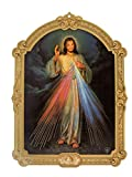 Bild Jesus, ich Vertraue auf Dich - Jesus, I Trust in You, 14,5 cm * 10,5 cm, Religiöse Geschenkidee für Firmung, Erstkommunion, Geburt, Hochzeit, Gnadenbild barmherziger Jesus, Christliches Geschenk