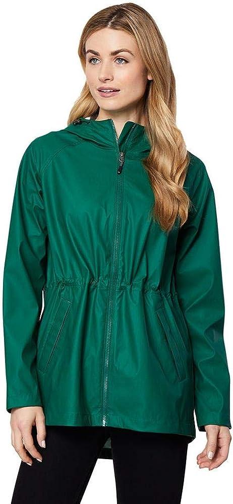 32 DEGREES Women's Waterproof Rain Slicker Anorak Hooded Jacket