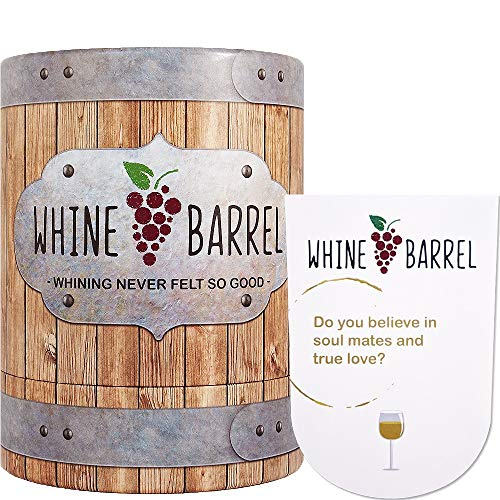 Whine Barrel Card Game - Wine Game Conversation Starter - Fun Game and Gift for Wine Lovers