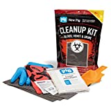 Blood, Vomit & Urine Cleanup Kit by New Pig - Norovirus Clean Up Kit - Includes Nitrile Gloves - Single Use Kit