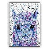 DIY Pintar por números Alpaca Kits de Pintura por números para Adultos, niños, Personas Mayores, acrílico para jóvenes