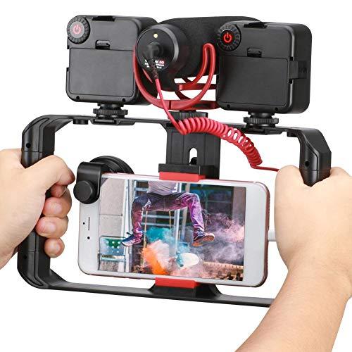 Smartphone Video Rig 3 Flitsschoenbevestigingen Filmmaking Case Stabilizer Frame Stand Bagger Brace Link Bolt On Chassis Stabilizer voor telefoonstabilisator