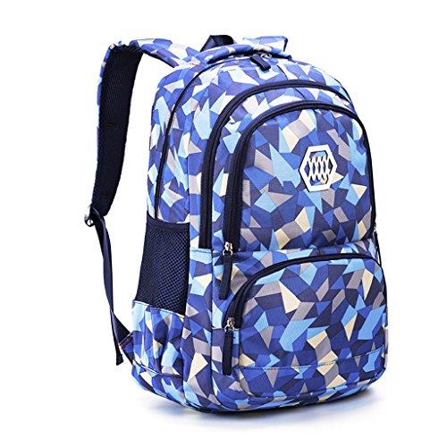 Kinderrucksack, Schulrucksack Mädchen Teenager Schultasche Schulranzen Junge Daypack Große Kapazität Sportrucksack Freizeitrucksack Tasche Kinder Tagesrucksack - Blau