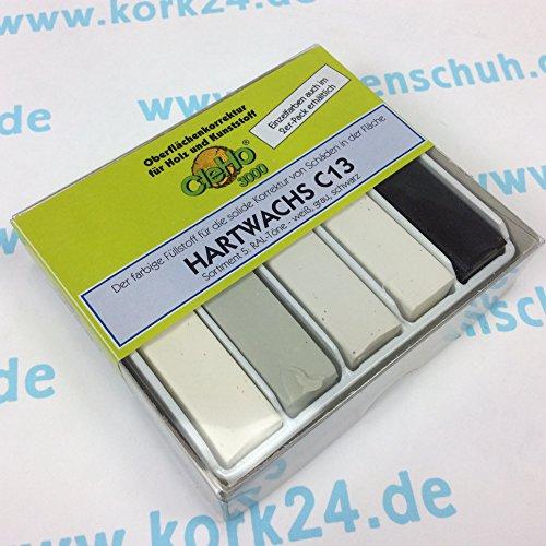 Cleho Hartwachs C13 | Farbe: weiß, grau, schwarz