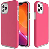 CoverON Slim Cover Designed for Apple iPhone 12 Pro Max Case (6.7'), Dual Layer Rugged Phone Protector - Hot Pink