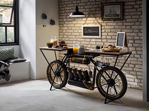 Woodkings® Bartisch Bombay Präsentationstisch Barregal Weinregal Ladentisch Verkaufstisch Motorrad Buffettisch Barmöbel Ladenausstattung