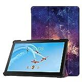 Fintie Hülle Kompatibel für Lenovo Tab P10 - Superdünne Superleicht Flip Hülle mit Auto Sleep/Wake Funktion für Lenovo Tab P10 10,1 Zoll Tablet, Galaxie