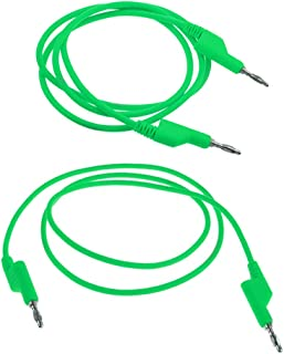 KESOTO Banana to Banana Plug Test Lead Set, 4mm Stackable Banana Plug Wire Test Cable for Multimeter, 1m 39 inch, 1000V/15A - Green