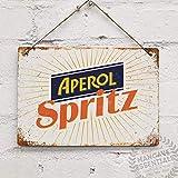 EpochSign Aperol Spritz - Cartel de chapa con letrero de metal (20,3 x 30,5 cm)