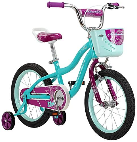 Schwinn Elm Girls Bike for Toddlers and Kids, 16-Inch Wheels, Teal