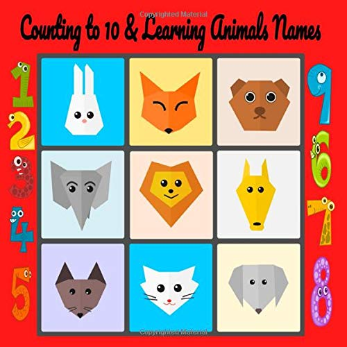 Counting to 10 and learning animals names: Fanny, interactive learning activity book For kids Age 2-6