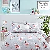 Catherine Lansfield - Flamingo - Juego de Funda nórdica para Cama Individual,...