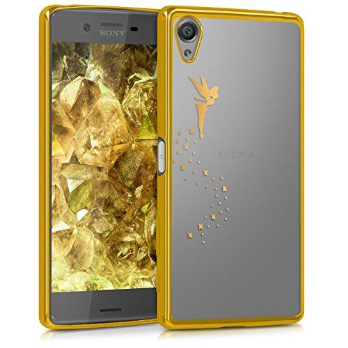 kwmobile Hülle kompatibel mit Sony Xperia X - Handyhülle - Handy Hülle Fee Gold Transparent