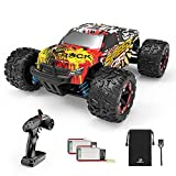 【4x4 & 40KM/H Super Fast Remote Car】Powered by strong 380 DC brushed motor,which can perform 7.4V 20000 revs per minute that makes a huge enhancement for the acceleration, this 4 wheel drive remote control truck can reach maximum speed up to 40+KM/H ...
