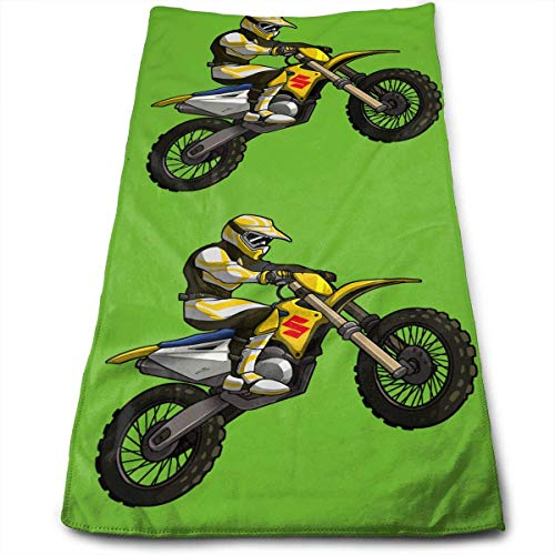 Hipiyoled Got Dirt Bike Motocross Logo Fade-Resistant Super Absorbent Shower\Beach\Bath Towels Workout,Gym,Fitness,Golf,Yoga,Camping,Hiking,Bowling,Travel,Outdoor Sports Towel