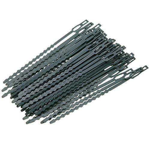 Ao Tuo 50 Packs van Twist Tie groene plant zachte banden plastic gecoate ondersteuning draad multifunctionele kabel Organizer