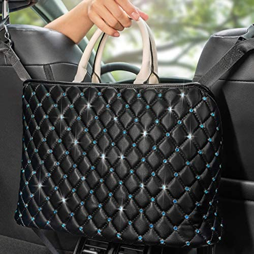 MENZOKE Car Handbag Holder Between Seats Handbag Purse Holder for Car Leather Seat Back Organizer product image