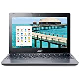 Acer C720-2844 11.6' Google Chromebook Laptop Intel Celeron 2955U Dual Core 1.4GHz 4GB RAM 16GB SSD - Gray