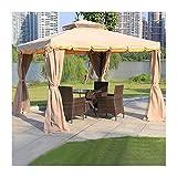 HLZY Garden Furniture Gazebo 10x10 FT Gazebos for Patios, Villa Garden Gazebo, Patio Pavilion Canopy Gazebo Backyard Tent, for Patio Garden Poolside Outdoor Canopy