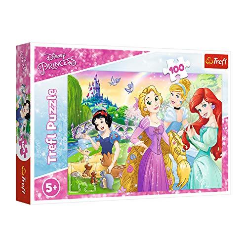 Trefl, 16393 Puzzle, Einmal Prinzessin sein, 100 Teile, Disney Princess, für Kinder ab 5 Jahren